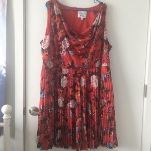 ModCloth red floral dress
